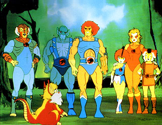 Original Thundercats Characters on Typical Scene From The Original Thundercats  Standing And Laughing And